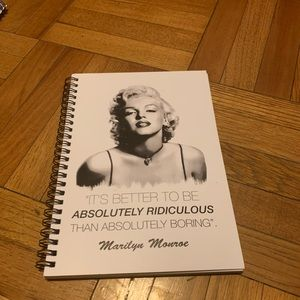 """NWOT REDBUBBLE MARILYN """"RIDICULOUS"""" NOTEBOOK"""